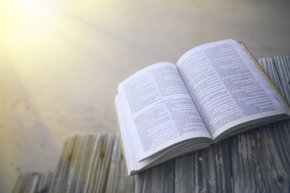 Bible at the Beach with Copy Space