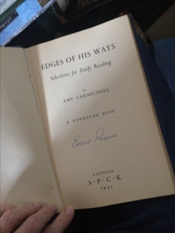 the title page of Edges of His Ways by Amy Carmichael